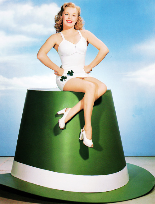 Pin Up Girl on a St. Patty's Day Hat